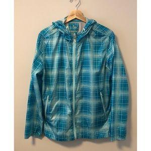 Turquoise Lightweight Hooded Jacket